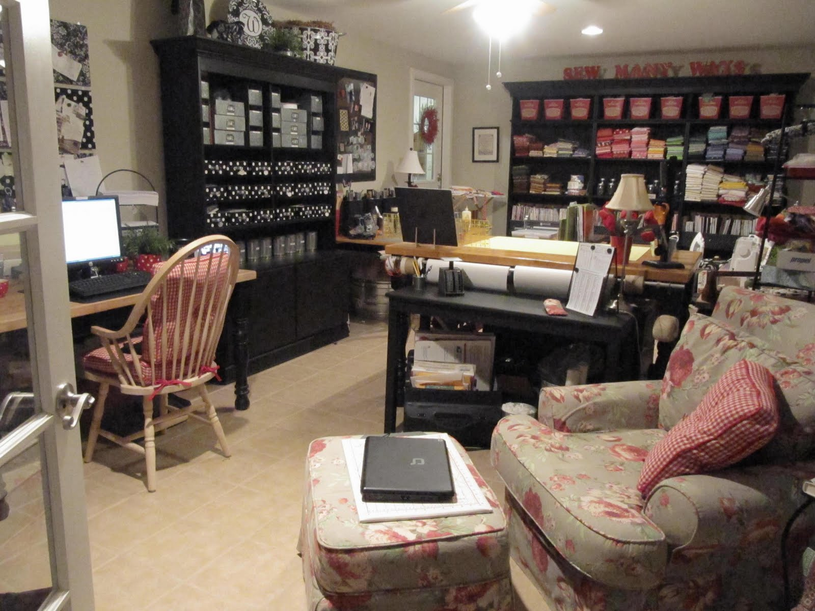Sew many ways added a few things to my sewing room Sewing room designs