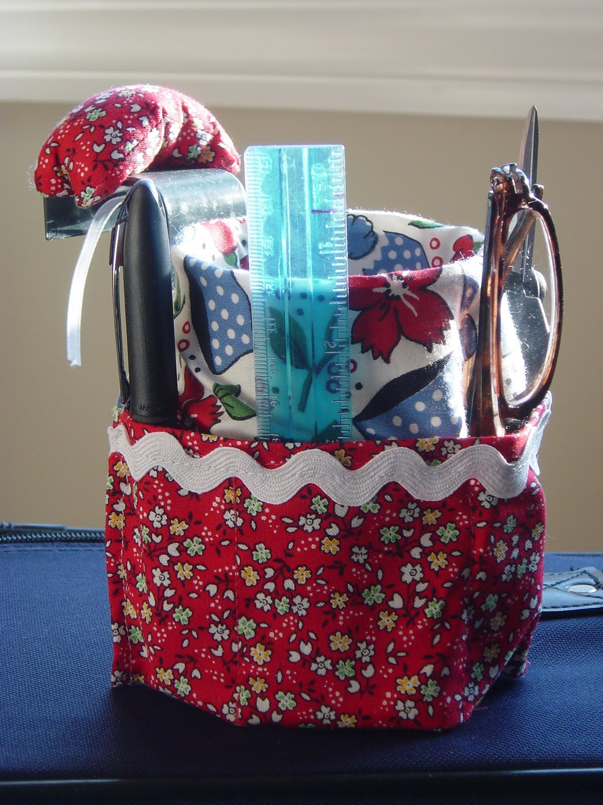 free pattern to sew coffee can organizer | just b.CAUSE