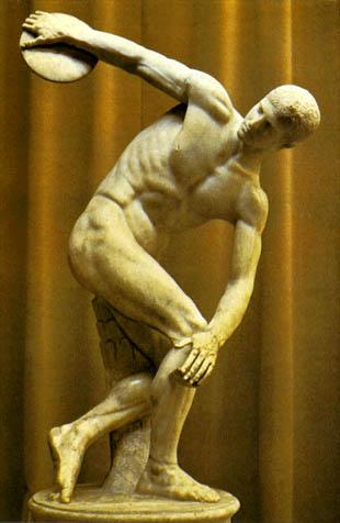 Las obras más conocidas de la pintura y la escultura. Discobolo