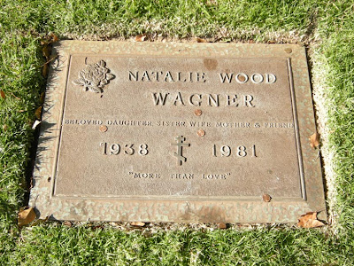 natalie wood is buried at westwood cemetery in los angeles, california ...