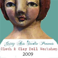 online cloth & clay doll class with Gritty Jane