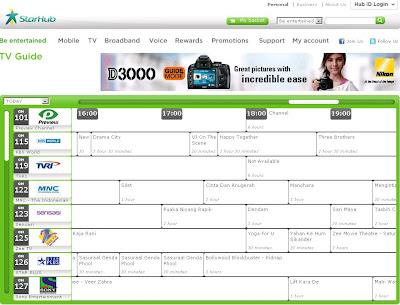 online TV listing or TV guide - StarHub Community - 133584
