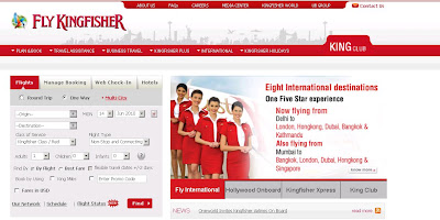 Kingfisher Airlines booking:  Online Ticket Reservation Guide