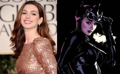 Anne Hathaway as Catwoman in Batman Sequel