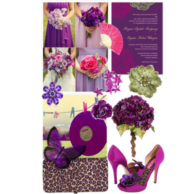 cheetah print mixed with pink and purple hues lime green embellishments