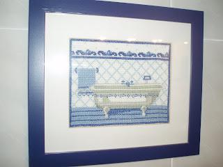 Rinconcito de la mancha cuadros de ba o y cocina punto de cruz - Cuadros de cuarto de bano ...