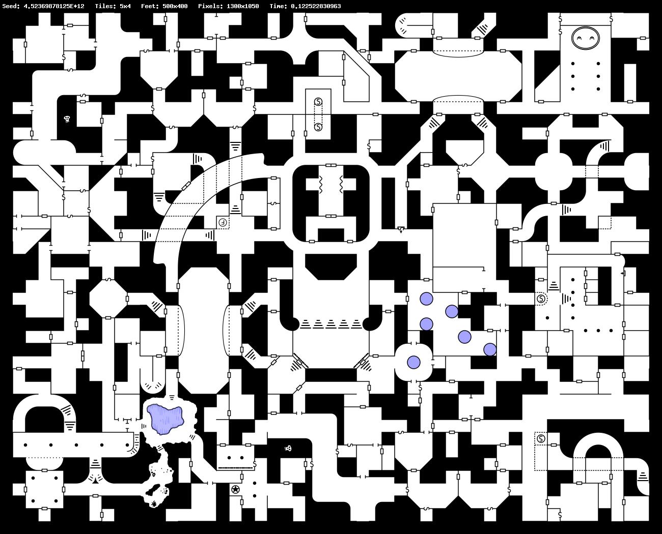 Carjacked Seraphim: Random Geomorphic Dungeon Map Generator