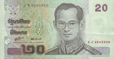 P109 20 Baht obv sig80 2008