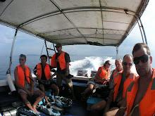 In gespannter Erwartung - Mit dem Speetboot gehts nach Sipadan Island