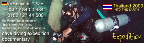 CAVEDIVING EXPEDITION - THAILAND 2009