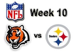 Watch Cincinnati Bengals vs. Pittsburgh Steelers Live NFL Week 10