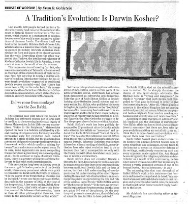 Is Darwin Kosher?