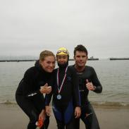 Finish Line of World Record Swim