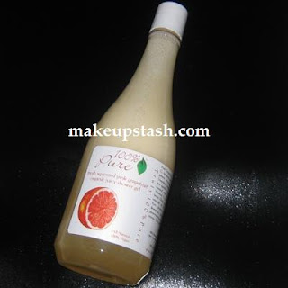 100% Pure Freshly Squeezed Pink Grapefruit Organic Juicy Shower Gel