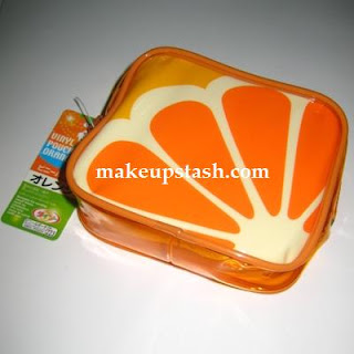 Orange Makeup Pouch