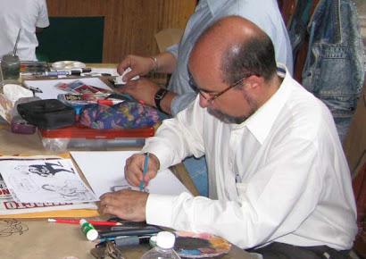 dibujando en el Museo de la Caricatura