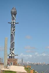 Esculturas de Brennand nos Arrecifes