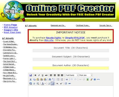 online pdf creator