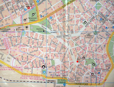 карта Варны центр