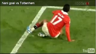 Gol tonto en el partido de Manchester United vs Tottenham
