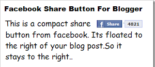 Menampilkan  Facebook Share di posting blog