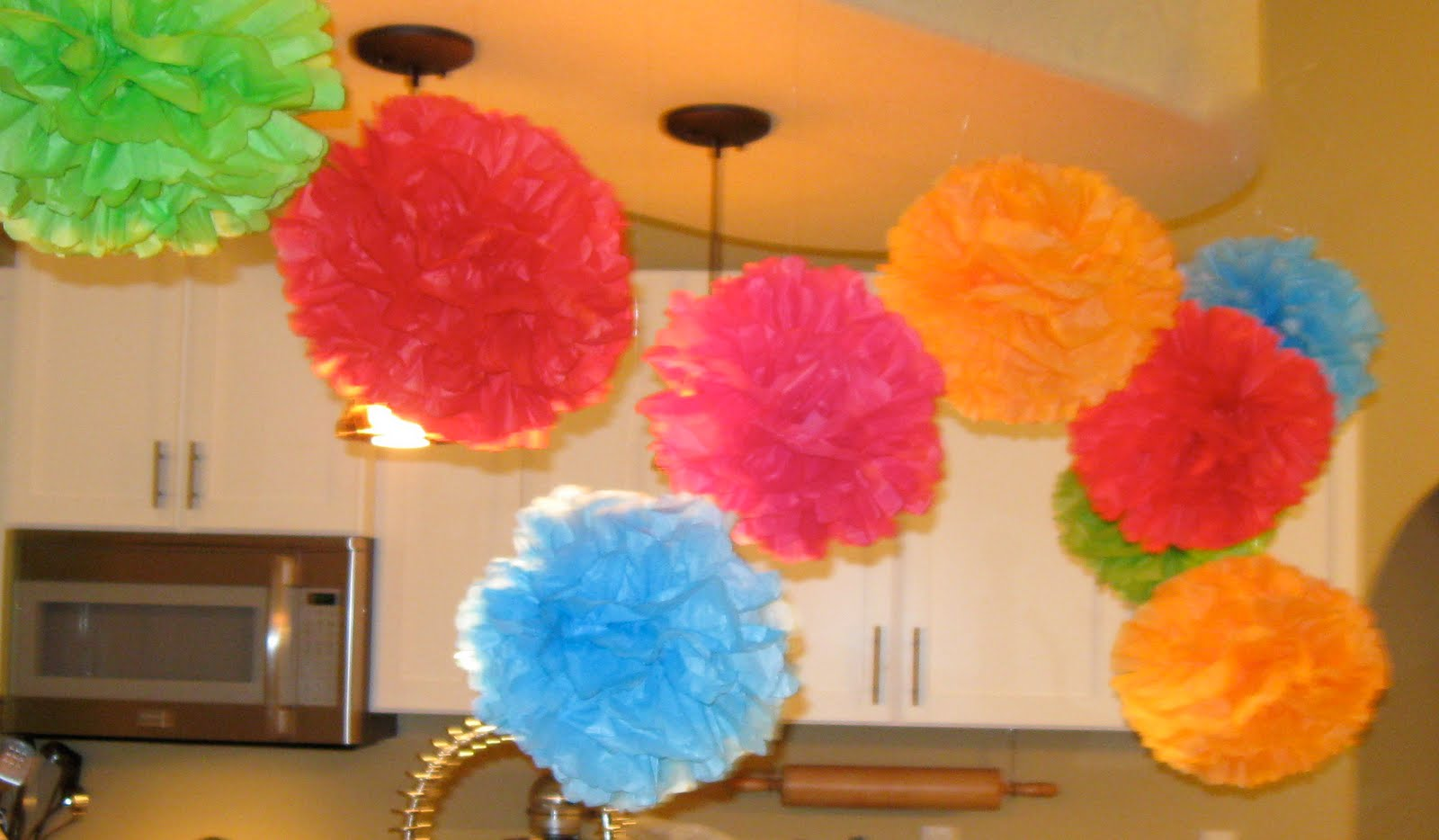 Diy Tissue Paper Party Puffs Living Well Spending Less