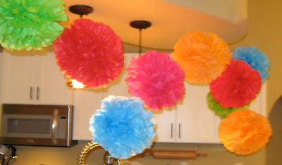 DIY Tissue Party Puffs   Tissue Pom Pom Tutorial   Tissue Paper Puff Flower   DIY Party Decors   DIY Tissue Paper Pom Poms   Tissue Paper Balls DIY