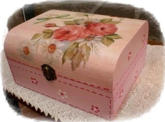 Artesanias chanel caja de madera decorada - Cajas de vino de madera decoradas ...