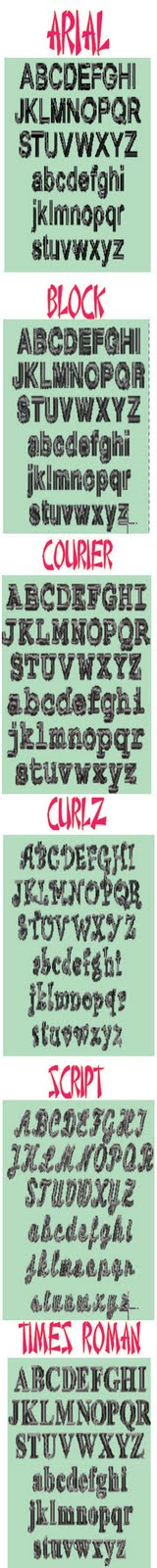 Embroidery Font Choices