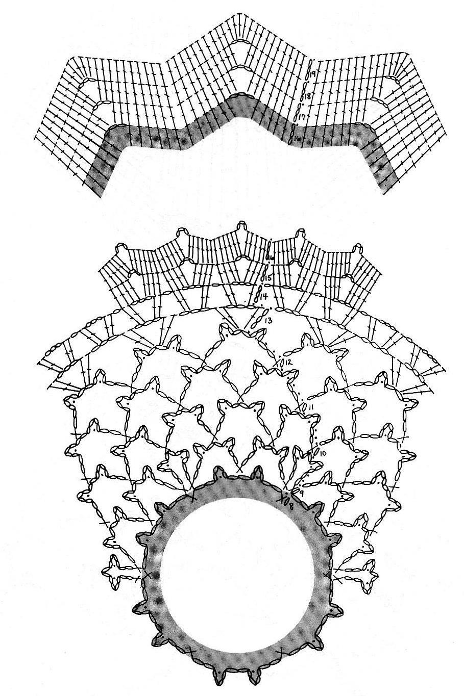 простая схема вязания шарфа-боа ажурный спицами
