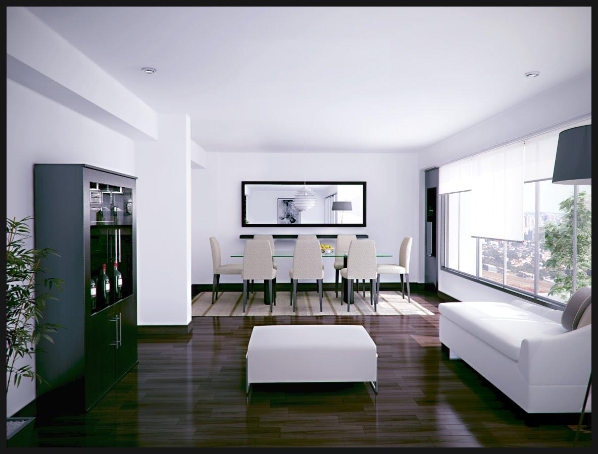 3d y arquitectura virtual sala comedor for Sala de comedor