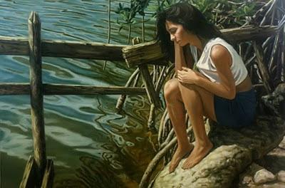 mujer-en-el río-obra-de-arte