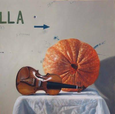 naturaleza muerta con violin