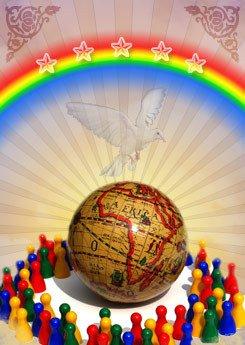 Por la lucha contra  la discriminacion.....por la lucha de la paz