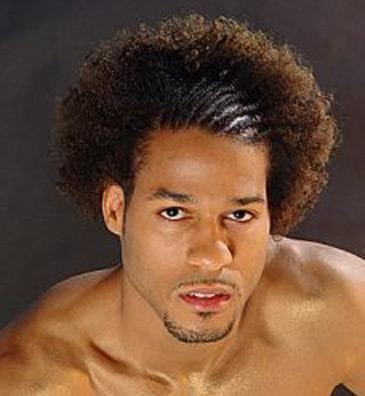 black mens hairstyle. lack mens hairstyle