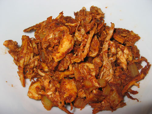 SHREDDED CHICKEN IN CHILLY GARLIC SAUCE
