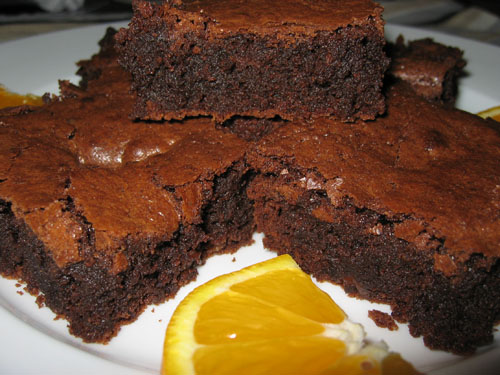 Mayan Orange Brownies