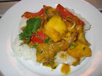 Chicken, Red Pepper and Mango Curry