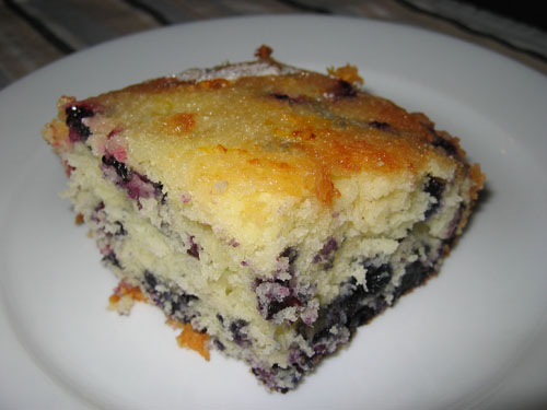 Blueberry and Lemon Coffee Cake on Closet Cooking