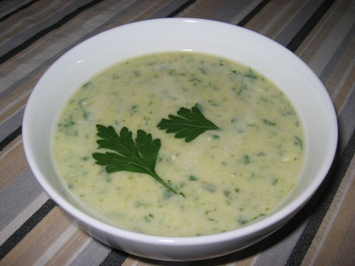 Soupe a la Courgette (Zucchini Soup)
