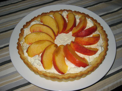 Fresh Peach Tart with Mascarpone