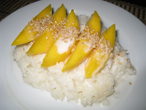 Mango on Coconut Sticky Rice on Closet Cooking