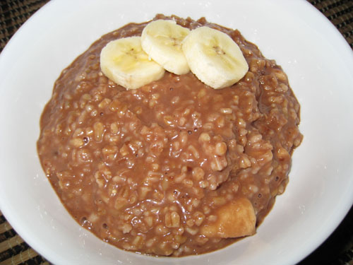 Chocolate and Banana Oatmeal