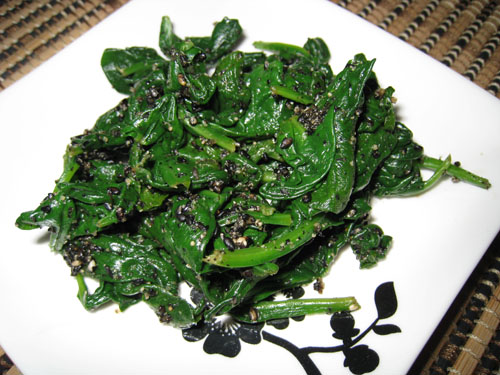 Spinach with Black Sesame Paste