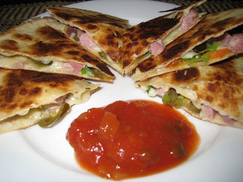 Ham and Cheese Quesadillas
