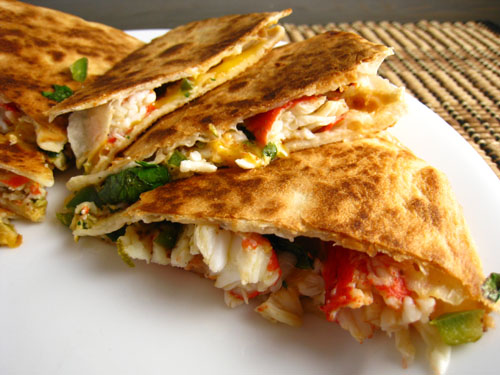 Crab Quesadillas on Closet Cooking