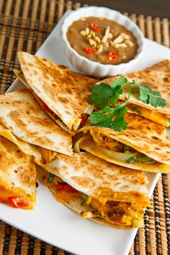 ... Satay Quesadillas with Spicy Peanut Dipping Sauce on Closet Cooking