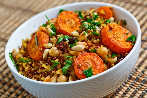 Moroccan Roasted Carrot And Chickpea Quinoa Salad Recipe — Dishmaps