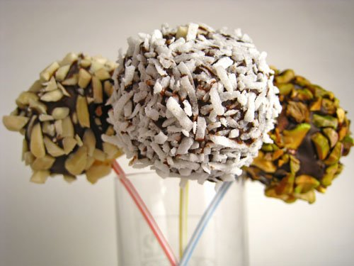 Chocolate Covered Cheesecake Lollipops