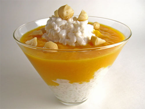 Mango Coconut Rice Pudding on Closet Cooking